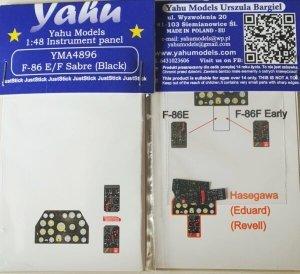 Yahu YMA4896 F-86 E/F Black Hasegawa / Eduard / Revell 1/48