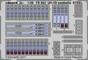 Eduard FE862 UH-1D seatbelts STEEL KITTY HAWK 1/48