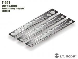 E.T. Model T-001 Panel Scribing Template ( szablon grawerski )