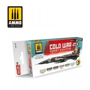 AMMO of Mig Jimenez 7240 COLD WAR VOL.1 SOVIET FIGHTERS SET 6x17ml