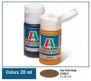 Italeri 4708 FLAT FIELD DRAB 20ml
