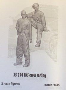 Glowel Miniatures 35034 TKS crew resting 1/35