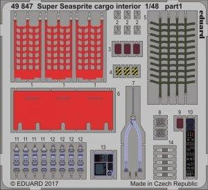 Eduard 49847 Super Seasprite cargo interior 1/48 KITTY HAWK