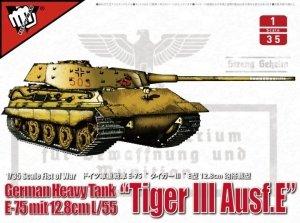 Modelcollect UA35016 German heavy tank WWII E-75 mit 12.8cm L/55 Tiger III Ausf.E 1/35