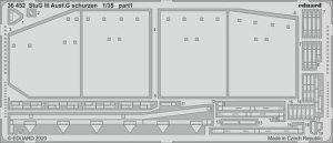 Eduard 36452 StuG III Ausf.G schurzen TAKOM 1/35