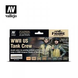 Vallejo 70186 WWII US Tank Crew 8x17ml