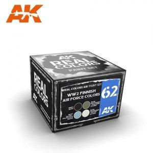 AK Interactive RCS062 WW2 FINNISH AIRFORCE COLORS SET 4x10ml