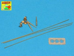 Aber R-33 Set of aerials for Russian Tanks like: T-34; T-55; T62; T-72 and other AVF  (1:35)