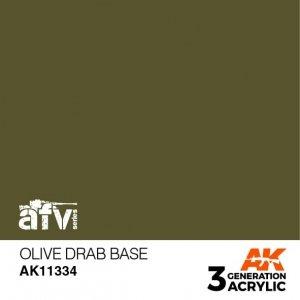 AK-Interactive AK 11334 Olive Drab Base 17ml