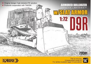 Sabre 72C01 D9R Armoured Bulldozer w/Slat Armour 1/72