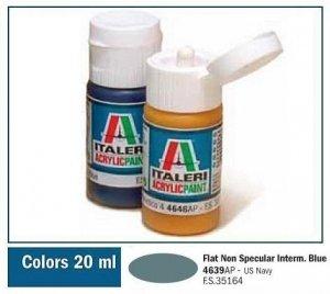 Italeri 4639 FLAT NON SPECULAR INTERMED. BLUE 20ml