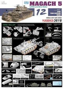 Dragon 3618 IDF Magach 5 w/ERA and Mine Roller (1:35)