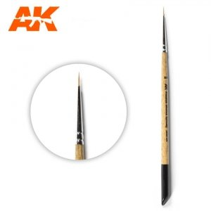 AK Interactive AKSK-2/0 PREMIUM SIBERIAN KOLINSKY BRUSH – 2/0