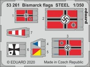 Eduard 53261 Bismarck flags STEEL 1/350 TRUMPETER