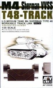 AFV Club 35038 WORKABLE T-48 Track for M4 Sherman VVSS, M3 Lee 1/35