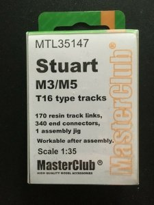 MasterClub MTL-35147 Tracks for M3/M5 Stuart T16 with new rubber pads 1/35