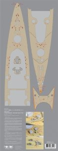 Pontos 20001WD1 Bismarck Wooden Deck set (1:200)