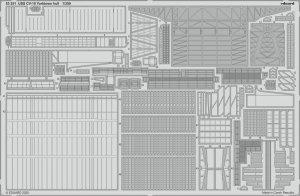 Eduard 53251 USS CV-10 Yorktown hull 1/350 TRUMPETER
