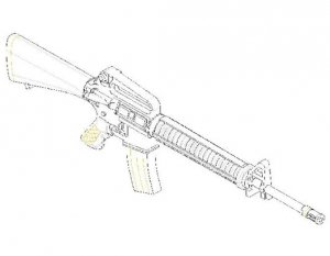 Trumpeter 00502 American machine gun AR15/M16/M4 FAMILY M16-A2 1/35