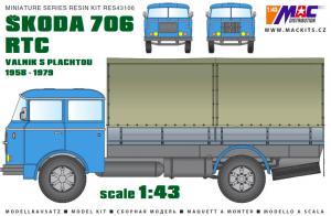 MAC RES43106 Škoda 706 RTC 1/43