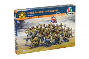 Italeri 6187 BRITISH INFANTRY AND SEPOYS (1:72)