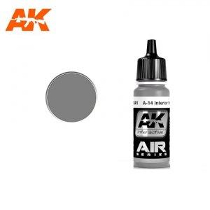 AK Interactive AK 2241 A-14 INTERIOR STEEL GREY 17ml