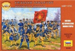 Zvezda 8048 Swedish Infantry 1687-1721 1/72