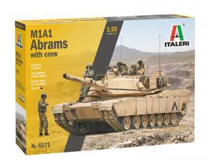 Italeri 6571 M1A1 Abrams with crew 1/35