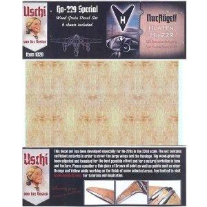 Uschi van der Rosten 1020 Horten Ho-229 Special Wood Grain Decal Set for Zoukei-Mura 1/32