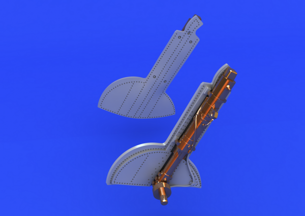 Eduard 648124 Spitfire undercarriage legs BRONZE 1/48  (Eduard)