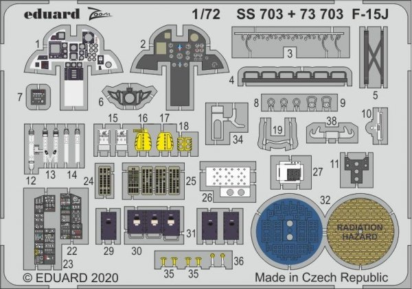 Eduard 73703 F-15J for Great Wall Hobby 1/72