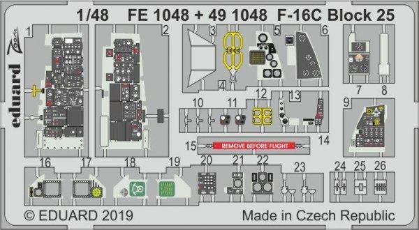 Eduard 491048 F-16C Block 25 1/48 TAMIYA