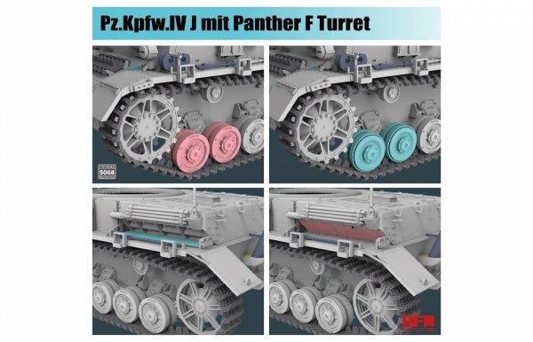 Rye Field Model 5068 Pz.Kpfw.IV J mit Panther F Turret 1/35