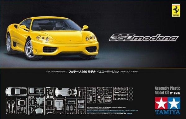 Tamiya 24299 Ferrari 360 Modena Yellow Version (1:24)