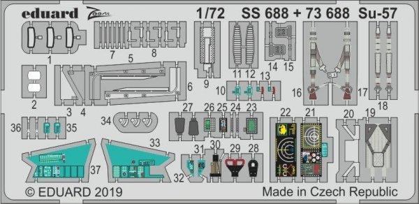 Eduard SS688 Su-57 1/72 ZVEZDA