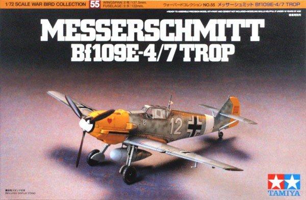 Tamiya 60755 Messerschmitt Bf109 E-4/7 TROP 1/72