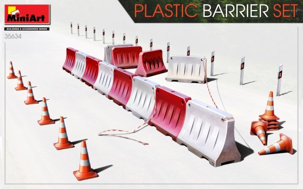 MiniArt 35634 PLASTIC BARRIER SET 1/35