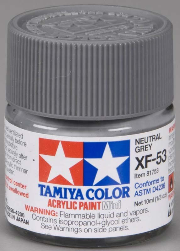 Tamiya XF53 Neutral Grey (81753) Acrylic paint 10ml