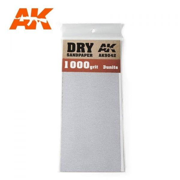 AK Interactive AK 9042 DRY SANDPAPER 1000
