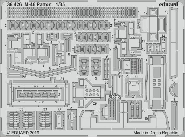 Eduard 36426 M-46 Patton 1/35 TAKOM
