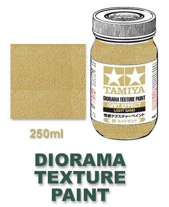 Tamiya 87122 Diorama Texture Paint 250ml - Grit Effect, Light Sand