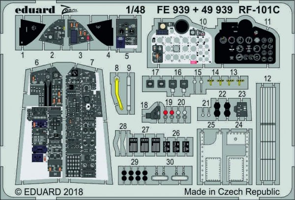 Eduard 49939 RF-101C interior 1/48 KITTY HAWK