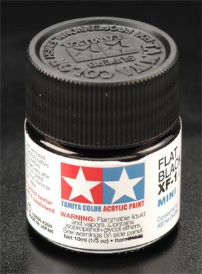 Tamiya XF1 Flat Black (81701) Acrylic paint 10ml