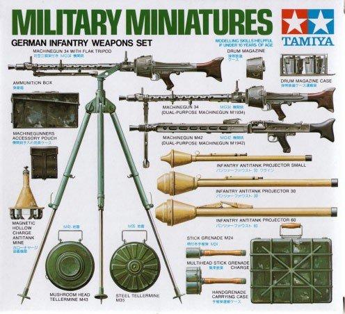 Tamiya 35111 German Infantry Weapons Set (1:35)