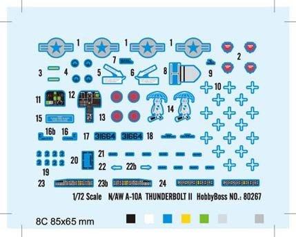 Hobby Boss 80267 N/AW A-10A THUNDERBOLT II (1:72)