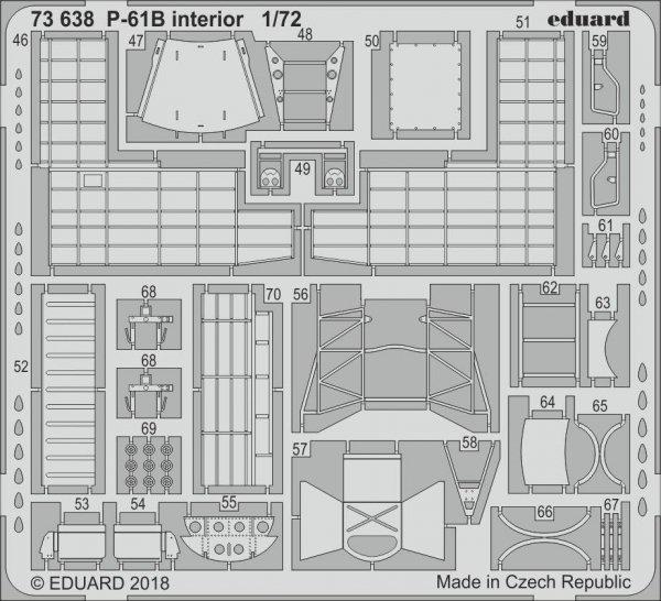 Eduard 73638 P-61B interior 1/72 HOBBY BOSS