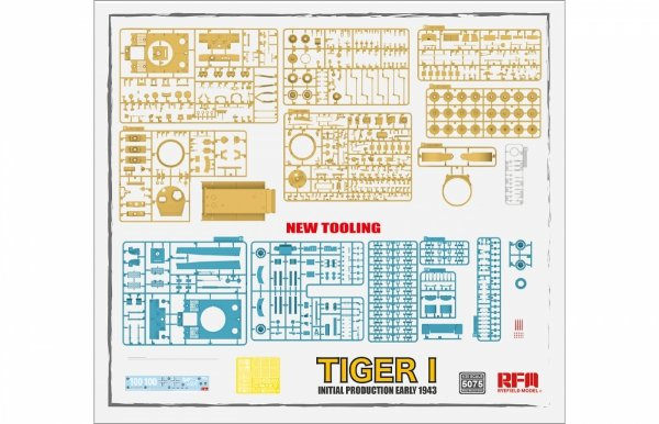 Rye Field Model 5075 Tiger I Initial Production Early 1943 1/35