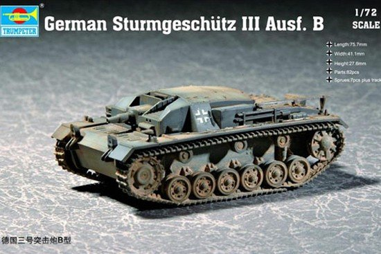 Trumpeter 07256 German Sturmgeschutz III Ausf. B (1:72)