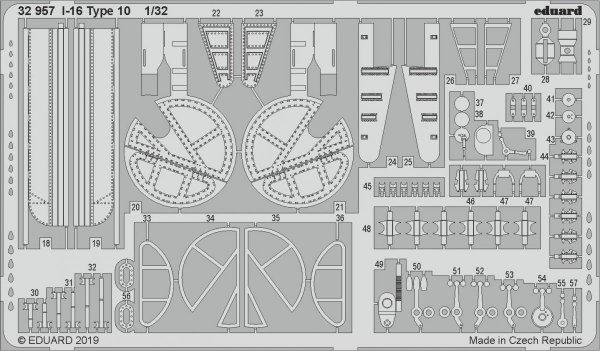Eduard 32957 I-16 Type 10 1/32 ICM