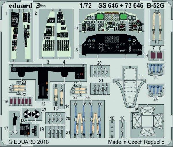 Eduard SS646 B-52G 1/72 MODELCOLLECT
